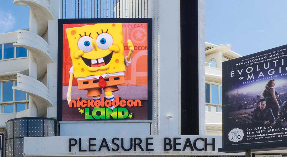 pleasure beach led screen