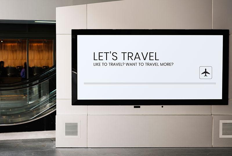 digital signage airport