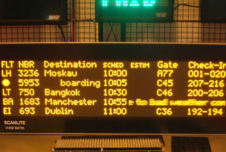 travel led display